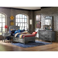 1265BTRPS Metal Twin Panel Storage Bed - Urban Quarters