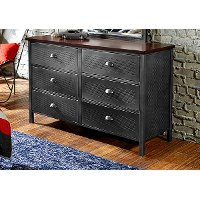 1265-717R Modern 6-Drawer Metal Dresser - Urban Quarters