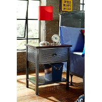 1265-771R Modern Metal 1-Drawer Nightstand - Urban Quarters