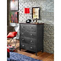 1265-784R Contemporary Metal 4-Drawer Chest - Urban Quarters