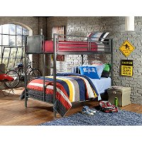 1265BB Metal Twin-over-Twin Bunk Bed - Urban Quarters