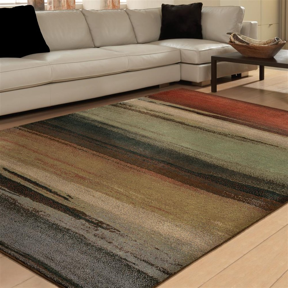 8 X 11 Large Green, Gray U0026 Rust Area Rug   Radiance | RC Willey Furniture  Store Part 91