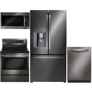 Great ... KIT LG 4 Piece Kitchen Appliance Package   Black Stainless Steel