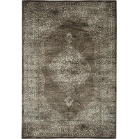 5 x 8 Medium Brown and Beige Area Rug - Sonoma
