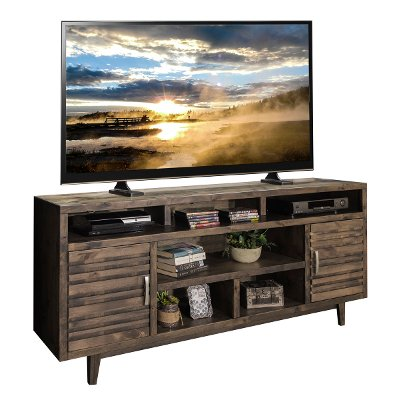 76 Inch Charcoal Brown TV Stand - Avondale