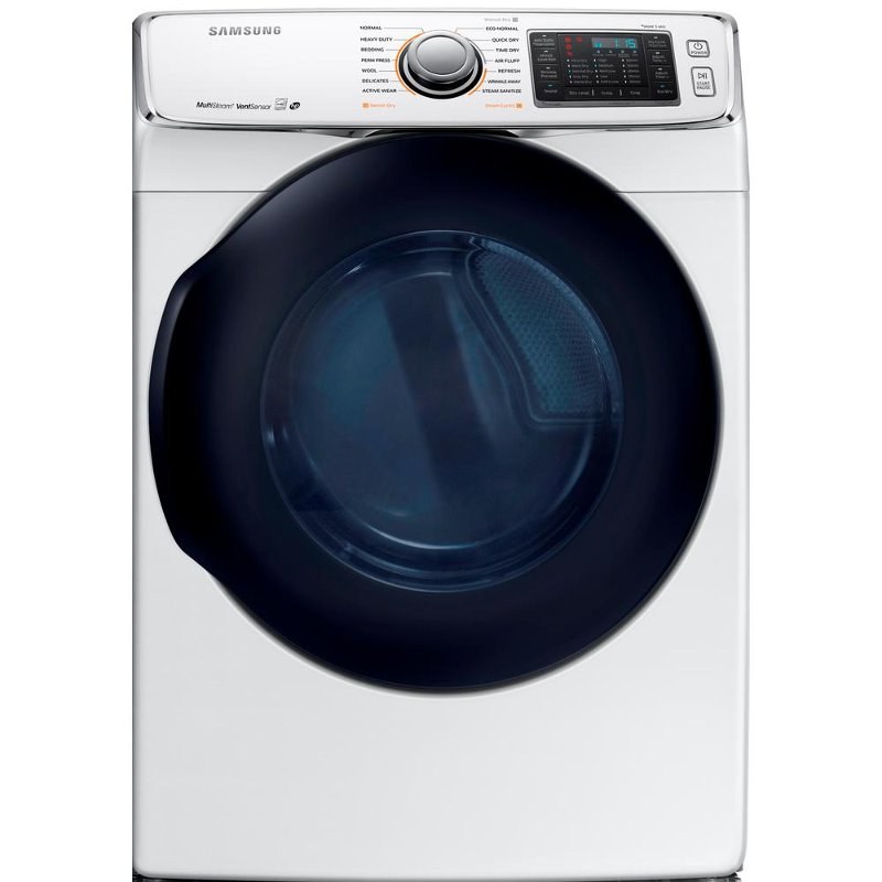 Samsung Multi-Steam Electric Dryer - 7.5 cu. ft. White