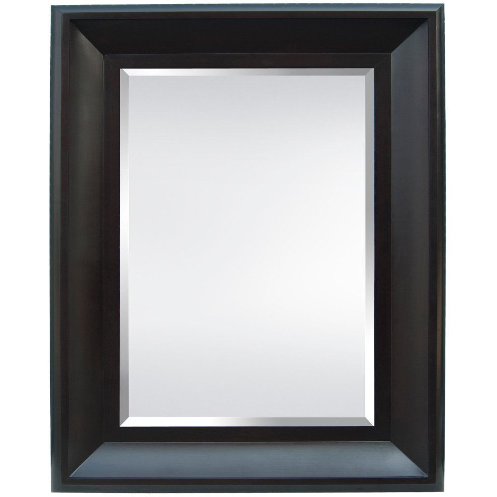Black wide frame wall mirror rc willey furniture store amipublicfo Images