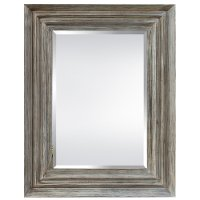 Multi Layer Distressed Wood Framed Mirror
