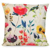 Multi Color Water Color II Floral Throw Pillow