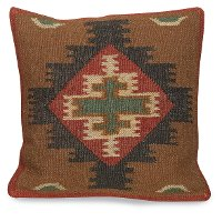 Kilim Design Diamond Throw Pillow
