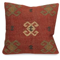 Kilim Red Design Throw Pillow