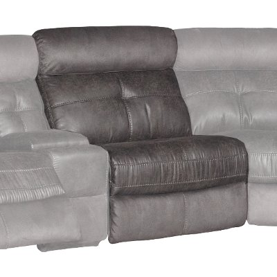 Gray Armless Recliner - Denver
