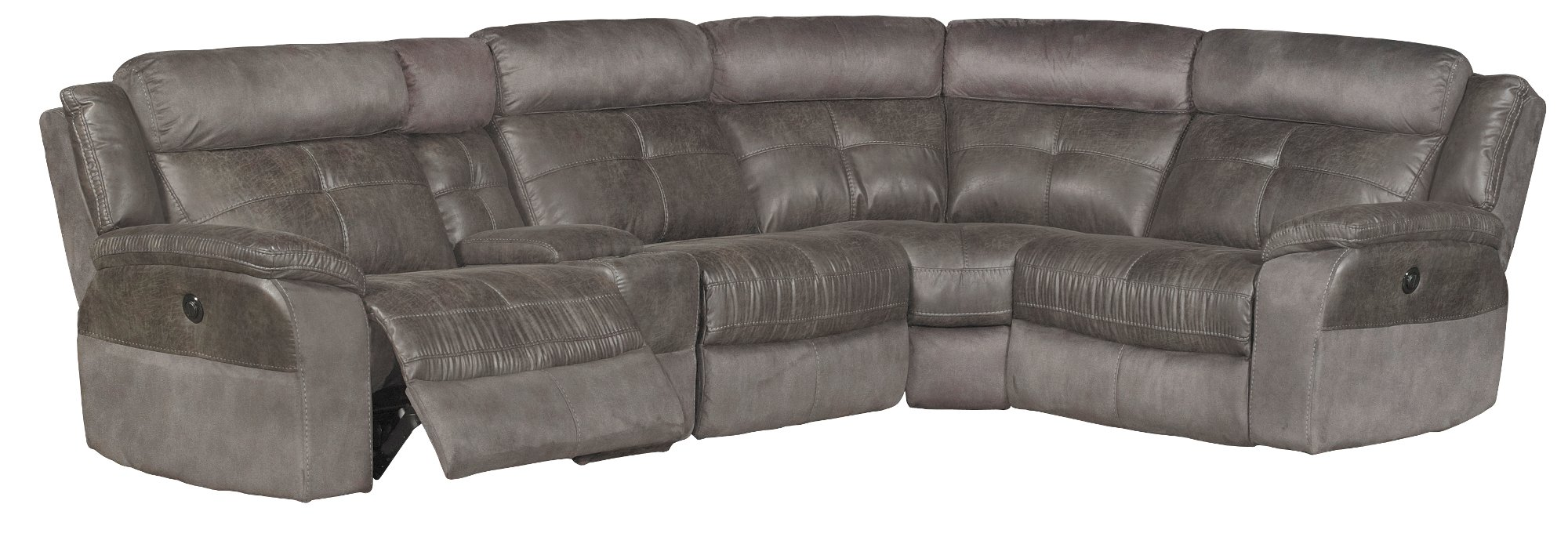 Gray 5 Piece 3x Power Reclining Sectional Sofa Denver From R C Willey Accuweather Shop