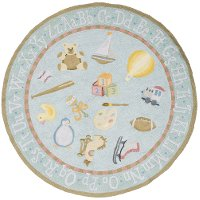 5' Round Baby Toys Blue Rug - 'Lil Mo Classic