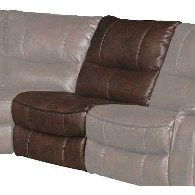 Brown Armless Power Recliner - Wayne
