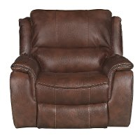Brown Power Recliner - Wayne