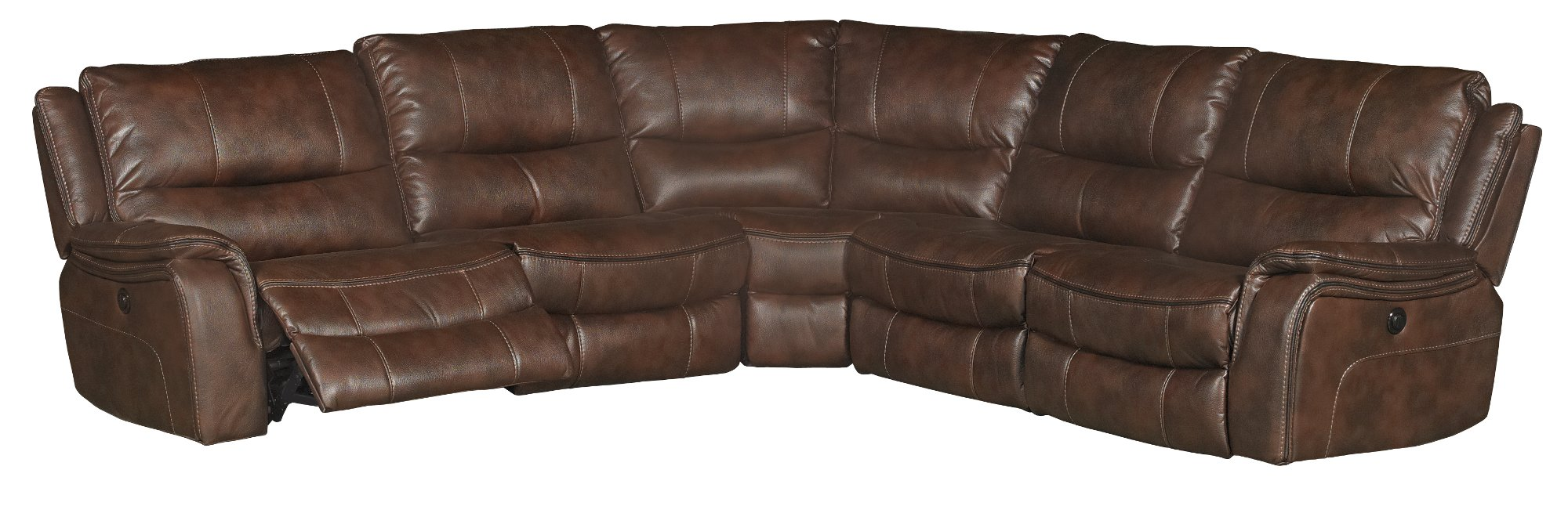 Brown 6-Piece Power Reclining Sectional - Wayne | RC ...