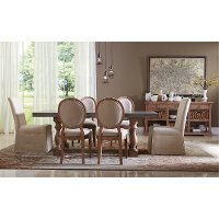 Pecan and Concrete 5 Piece Dining Set - Sherborne Collection