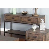 Rustic Distressed Brown Sofa Table - Homestead Collection