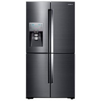 RF22K9381SG Samsung Counter Depth Food ShowCase Smart Refrigerator with French Door FlexZone - 22.1 cu. ft., 36 Inch Black Stainless Steel