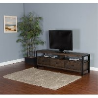 78 Inch Rustic Walnut Brown TV Stand - Homestead