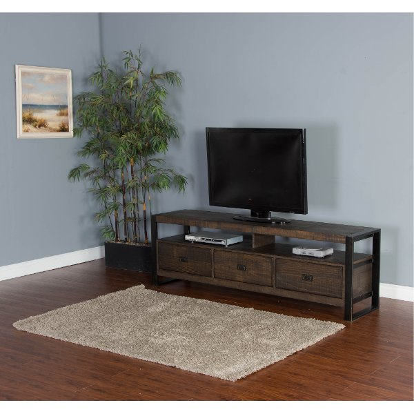 Superbe ... 78 Inch Rustic Walnut Brown TV Stand   Homestead