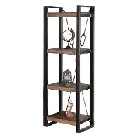 Rustic Brown Bookcase - Homestead