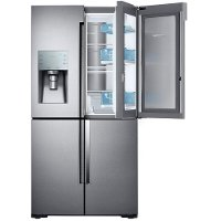 RF28K9380SR Samsung 4 Door French Door Smart Refrigerator with FoodShowcase and FlexZone - 28.0 cu. ft., 36 Inch Stainless Steel