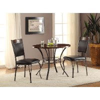 piece dining set transitional reid black and brown rc willey