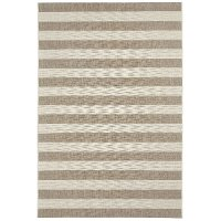 4 x 6 Small Striped Barley Tan Indoor-Outdoor Rug - Finesse