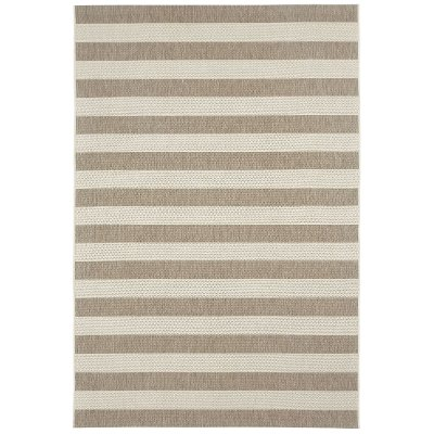 4 X 6 Small Striped Barley Tan Indoor / Outdoor Rug   Finesse