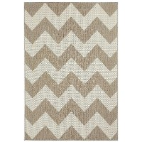 4 x 6 Small Chevron Barley Tan Indoor-Outdoor Rug - Finesse