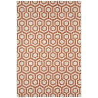 4 x 6 Small Coral Indoor-Outdoor Rug - Honeycombs