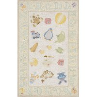 5 x 7 Medium Baby Toys Yellow Area Rug - 'Lil Mo Classic
