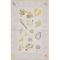 4 x 6 Small Baby Toys Soft Pink Area Rug - 'Lil Mo Classic