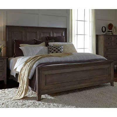 Driftwood Classic Shaker Panel King Size Bed - Talbot