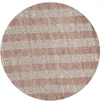 5' Round Striped Pink Area Rug - Classic Cabana