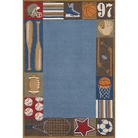 4 x 6 Small All Star Denim Blue Rug - Whimsy