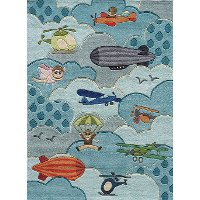 4 x 6 Small Aviator Sky Blue Rug - Whimsy