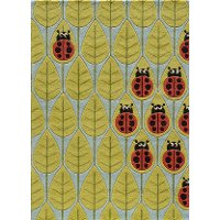 4 x 6 Small Ladybug Red and Green Area Rug - Whimsy Garden