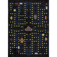 5 x 7 Medium Arcade Game Black Area Rug - Whimsy