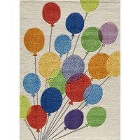 4 x 6 Small Multi-Colored Balloons Area Rug - Whimsy