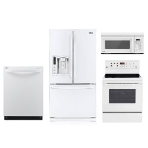Kit Lg White 4 Piece Electric Kitchen Appliance Package
