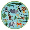 5' Round Safari Blue Rug - Whimsy