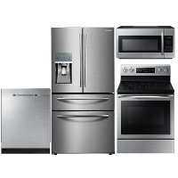 KIT Samsung 4 Piece Electric Kitchen Appliance Package - Stainless Steel