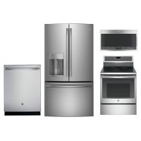 KIT GE 4 Piece Kitchen Appliance Package - Stainless Steel