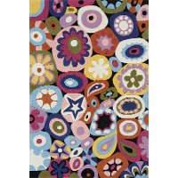 4 x 6 Small Multi-Colored Mille Fleur Area Rug - Hipster