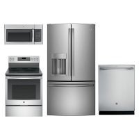 KIT GE Kitchen Appliance Package with Electric Range - Stainless Steel