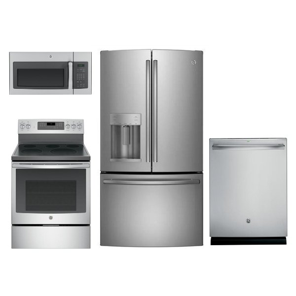 ... KIT GE Kitchen Appliance Package With Electric Range   Stainless Steel  ...
