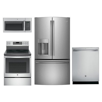 ge stainless steel kitchen appliance package | rc willey furniture